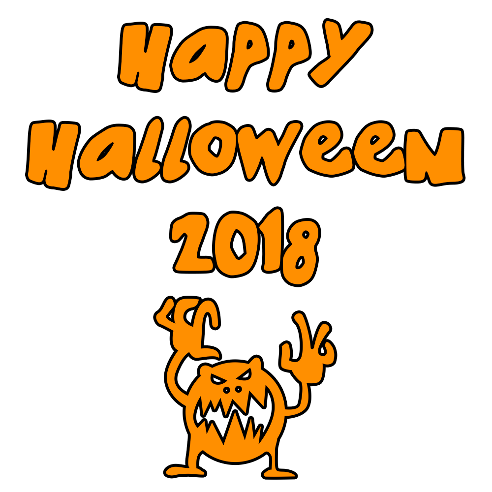 Happy Halloween 2018 Scary Monster   PNGlib - Free PNG Library