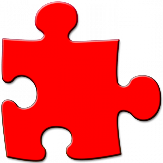 Red Puzzle Piece | PNGlib – Free PNG Library